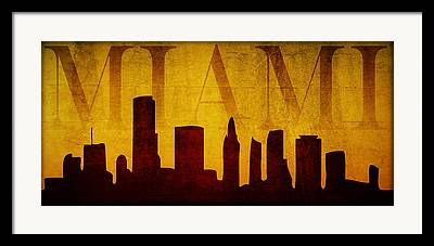 Miami Digital Art Framed Prints