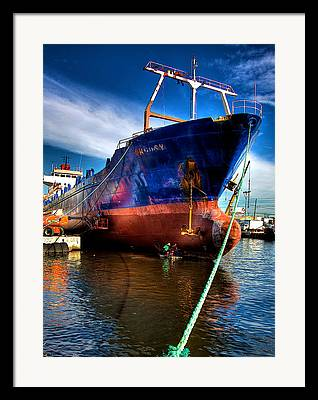 Freighters Framed Prints