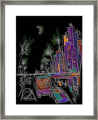 Miami Framed Print by Russell Pierce