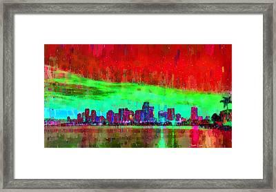 Miami Skyline 106 - Da Framed Print