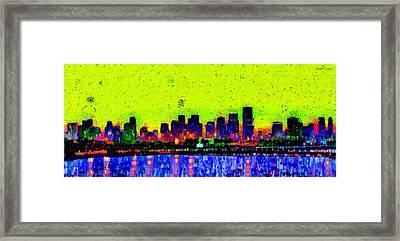 Miami Skyline 26 - Da Framed Print