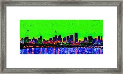 Miami Skyline 27 - Da Framed Print