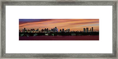 Miami Sunset Panorama Framed Print