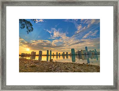Miami Sunset Framed Print