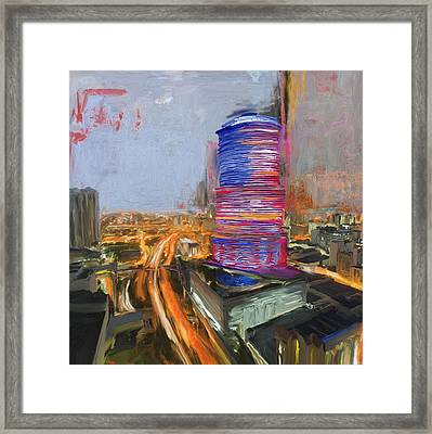 Miami Tower 234 1 Framed Print by Mawra Tahreem