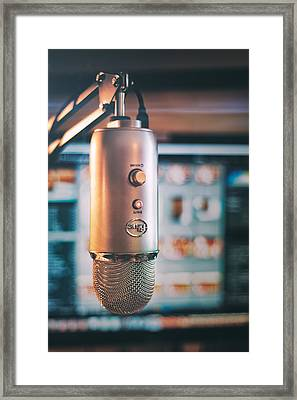 Mic Check 1 2 3 Framed Print