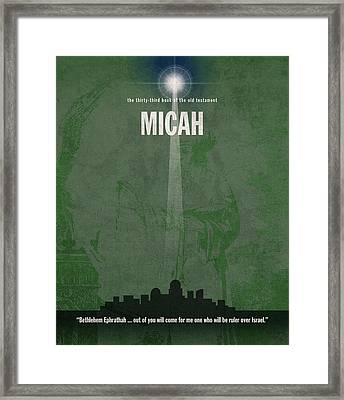 Micah Books Of The Bible Series Old Testament Minimal Poster Art Number 33 Framed Print