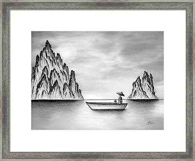 Micah Monk 01 - In The Moment Framed Print by Lori Grimmett