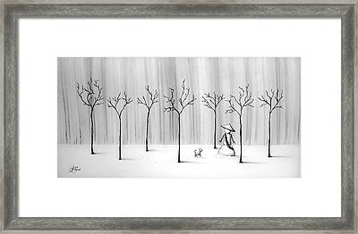 Micah Monk 10 - Snowmonk Framed Print by Lori Grimmett
