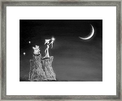 Micah Monk 11 - Light Up The Sky Framed Print