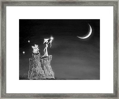Micah Monk 11 - Light Up The Sky Framed Print by Lori Grimmett