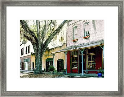 Micanopy Storefronts Framed Print