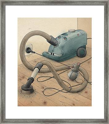 Mice And Monster Framed Print by Kestutis Kasparavicius