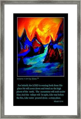 Micha134 Framed Print by Siena Blanco