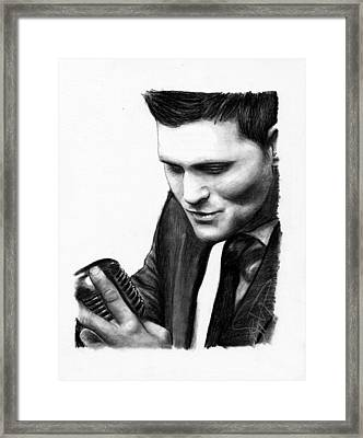 Michael Buble Framed Print by Rosalinda Markle