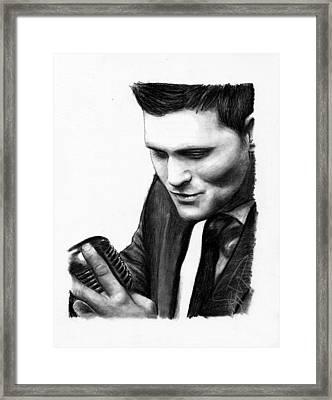 Michael Buble Framed Print by Rosalinda Markle
