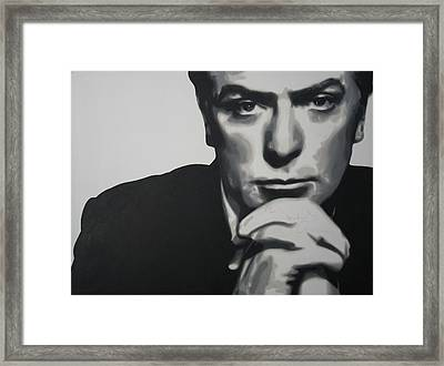 Michael Caine 2013 Framed Print by Luis Ludzska
