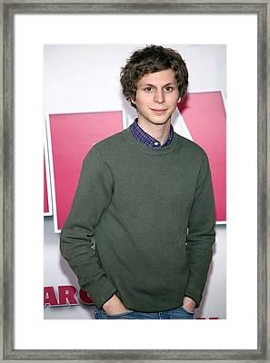 Michael Cera At Arrivals For Year One Framed Print