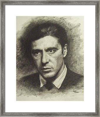 Michael Corleone Framed Print by Cynthia Campbell