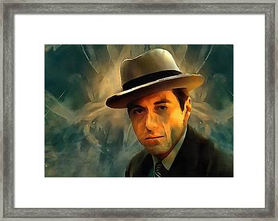 Michael Corleone Framed Print by Dan Sproul