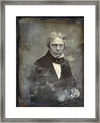 Michael Faraday 1791-1867 English Framed Print by Everett