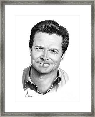 Michael J. Fox Framed Print by Murphy Elliott