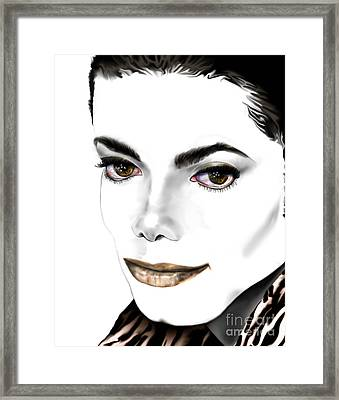 Michael J Framed Print by Reggie Duffie
