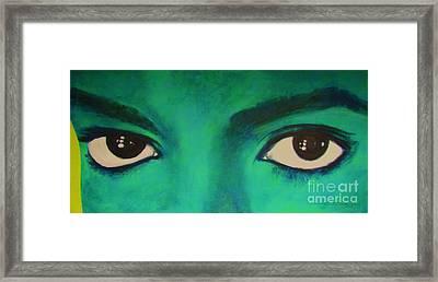 Michael Jackson - Eyes Framed Print by Eric Dee