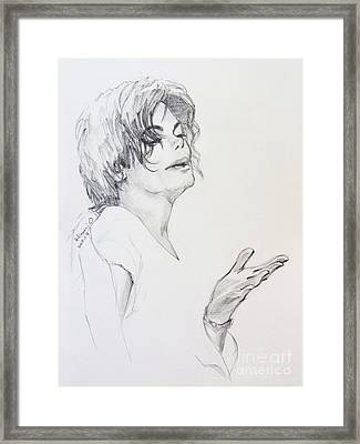 Michael Jackson - In 2001 Ny Framed Print
