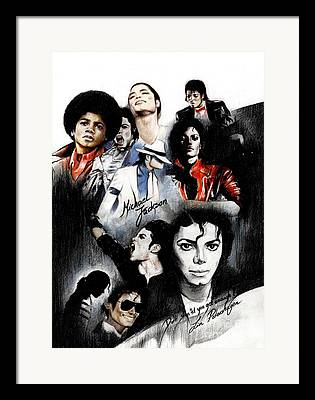 Michael Jackson Drawings Framed Prints