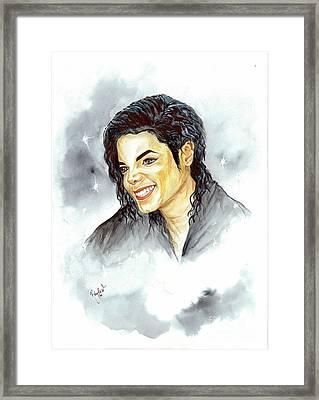 Michael Jackson - Smile Framed Print by Nicole Wang