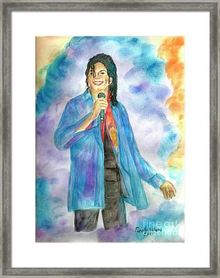 Michael Jackson - The Final Curtain Call Framed Print by Nicole Wang