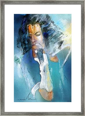 Michael Jackson 04 Framed Print by Miki De Goodaboom
