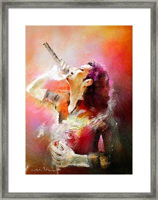 Michael Jackson 05 Framed Print by Miki De Goodaboom