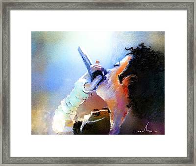 Michael Jackson 06 Framed Print by Miki De Goodaboom