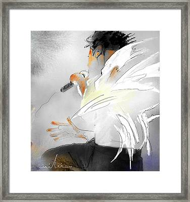 Michael Jackson 08 Framed Print by Miki De Goodaboom
