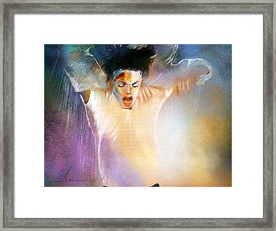 Michael Jackson 09 Framed Print by Miki De Goodaboom