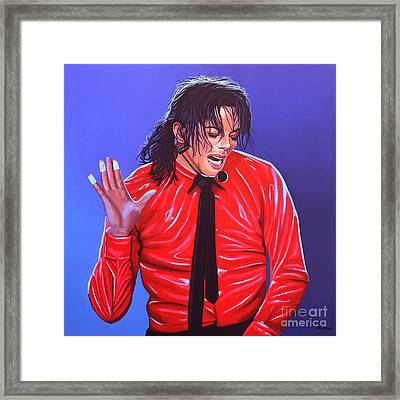 Michael Jackson 2 Framed Print by Paul Meijering