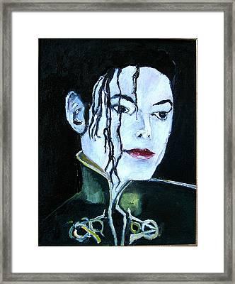 Michael Jackson 2 Framed Print by Udi Peled