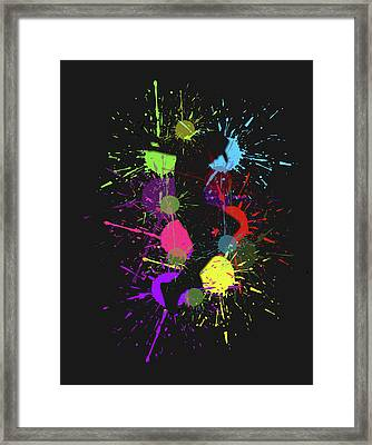 Michael Jackson Abstract Framed Print