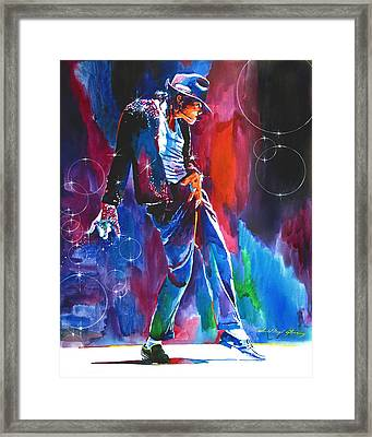 Michael Jackson Action Framed Print