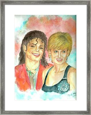 Michael Jackson And Princess Diana Framed Print