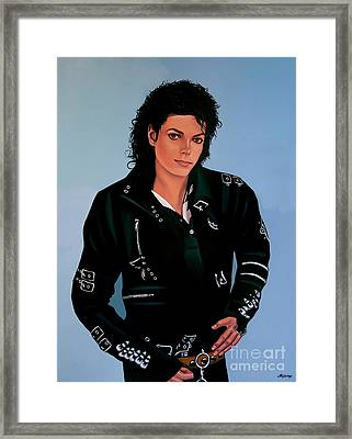 Michael Jackson Bad Framed Print by Paul Meijering