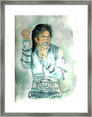 Michael Jackson Bad Tour Framed Print