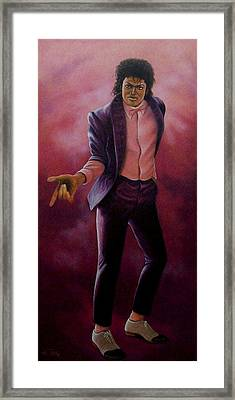 Framed Print featuring the painting Michael Jackson-billy Jean by Loxi Sibley