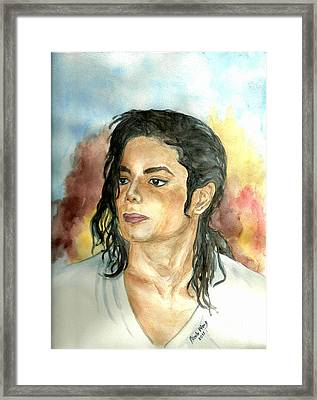 Michael Jackson Black Or White Framed Print by Nicole Wang