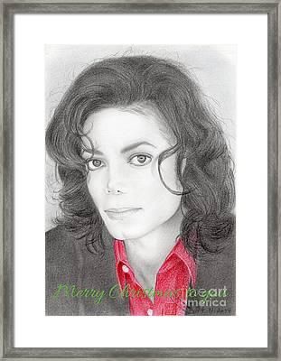 Michael Jackson Christmas Card 2016 - 006 Framed Print