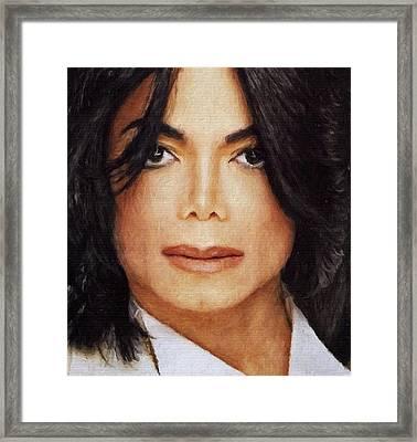 Michael Jackson Classic Portrait Framed Print