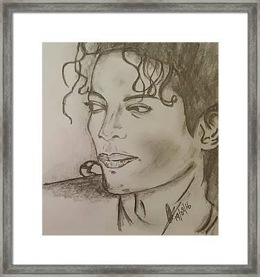 Michael Jackson Framed Print by Collin A Clarke