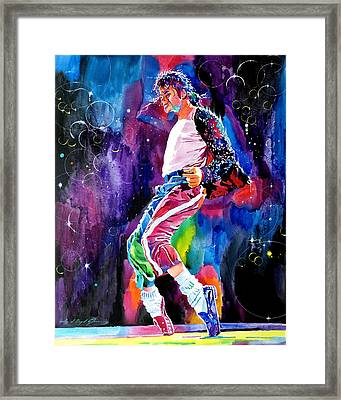Michael Jackson Dance Framed Print by David Lloyd Glover